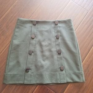 Loft Outlet Button Skirt